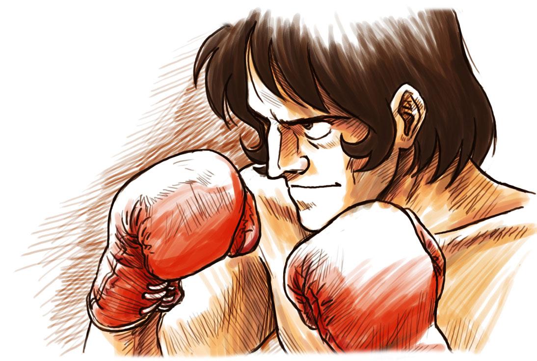 ボクシンググローブをはめて構えている力石徹のあしたのジョーの壁紙